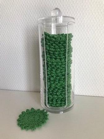 Beholder indeholdende 35 rondeller i grøn