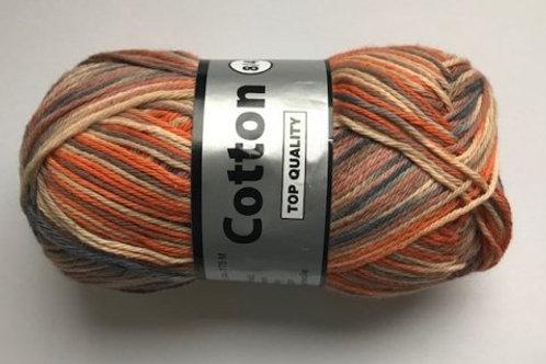 Cotton no 8 - orange/beige/brun multicolor