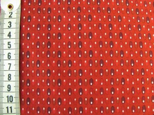 Mørk rød bund m mønster i forskellige røde nuancer