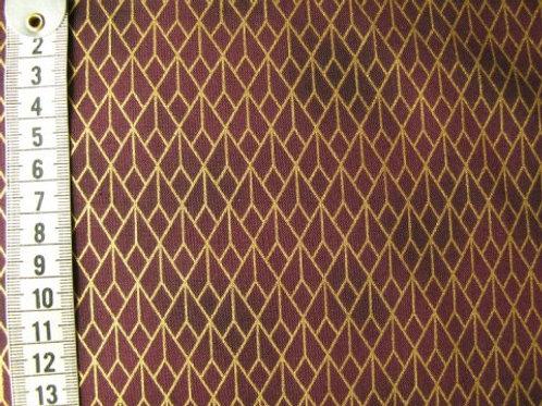 Mørk blomme bund med guld mønster