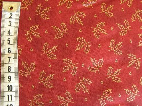 Rød bund m. guld kristjørn