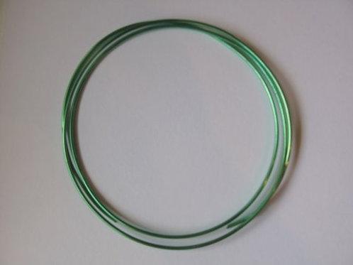 Dekorationstråd, grøn, 2 mm tyk - 1 m