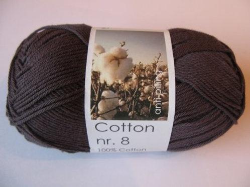 Cotton no 8 - Mørk grå