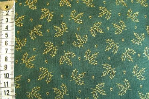 Grøn bund med guld kristjørn