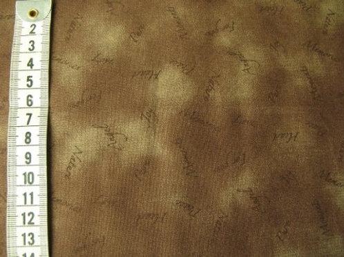Marmoreret brun bund med små søde ord