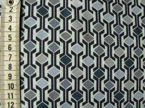 Grå bund med blå og grå mønster