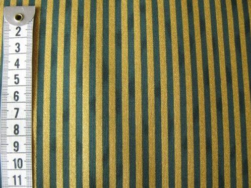 Grøn bund m. guld striber