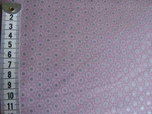 Rosa bund m. cirkelmønster og sølv pletter
