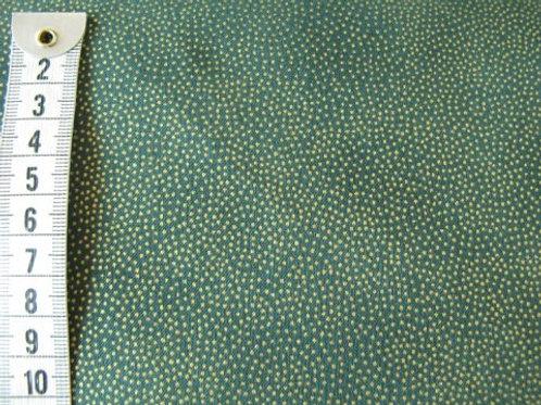 Grøn bund med små guld prikker