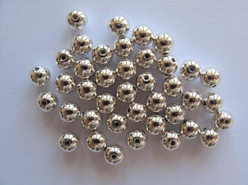 40 stk. voksperler, sølv 6 mm