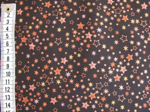 Sort bund m. kobber og brune stjerner