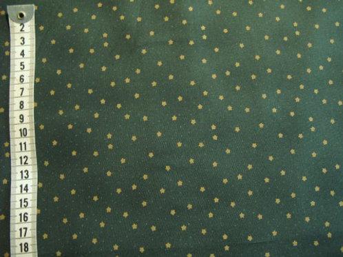Grøn bund m små guld stjerner