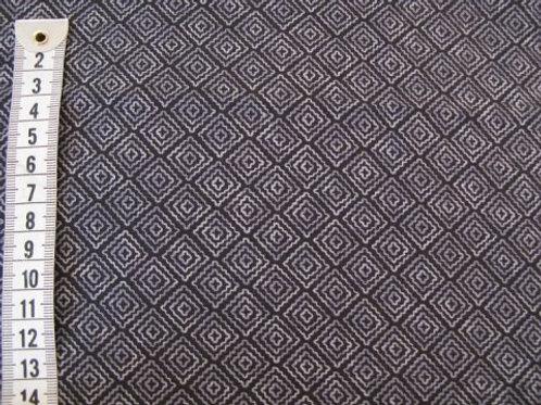 Sort bund m.grå mønster i firkanter
