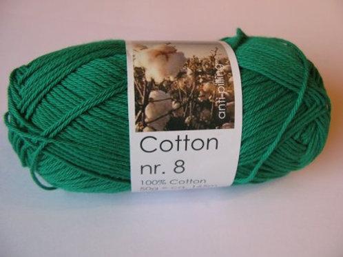 Cotton no 8 - Græs grøn