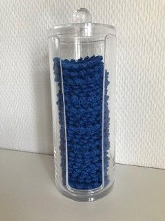 Beholder indeholdende 35 rondeller i blå
