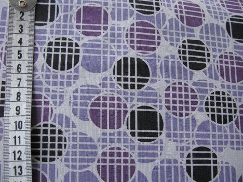 Lys grå bund m. lilla og sort mønster