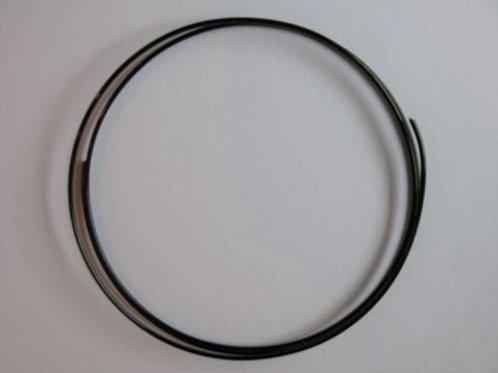 Dekorationstråd, sort, 2 mm tyk - 1 m