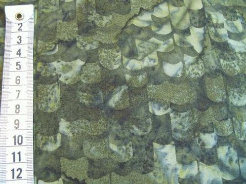 Mørk bund m. mosgrøn mønster - bali