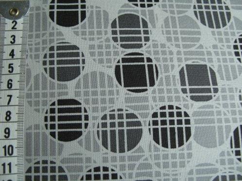 Lys grå bund m. mønster i grå og sort