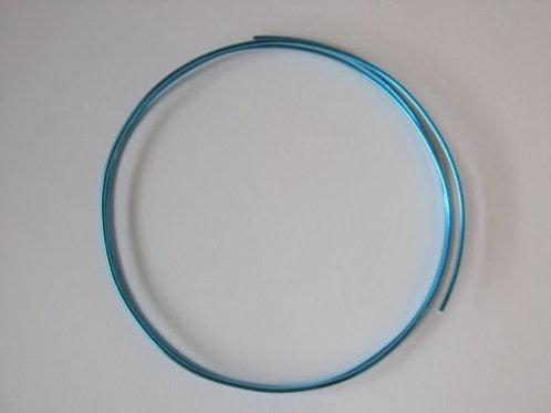 Dekorationstråd tyrkisblå, 2 mm tyk - 1 m