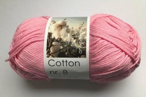 Cotton no 8 - lys rød
