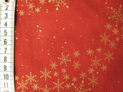 Rød bund med guld stjerner