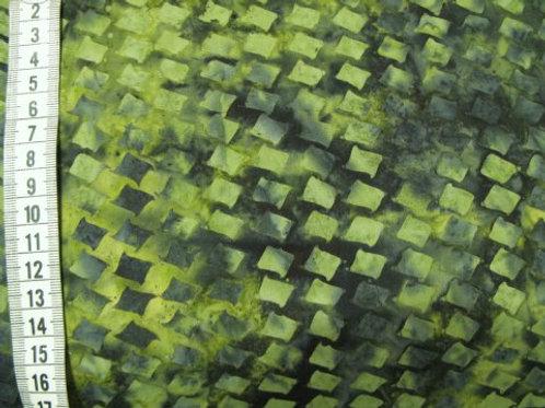 Flere nuancer gul-grøn mønster af firkanter- bali