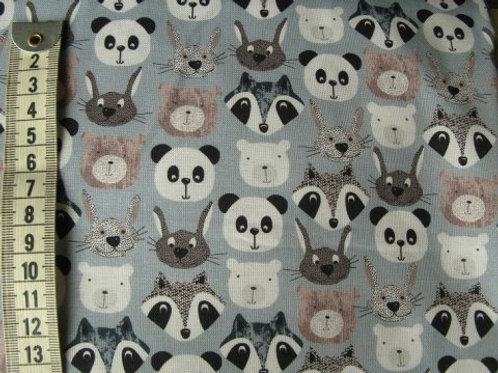 Lys grå bund med dyrehoveder