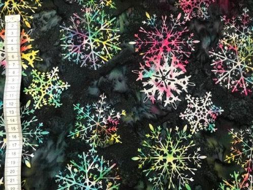 Mørk bund med store stjerner i mange farver - bali