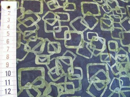 Sort bund m. mosgrønt mønster - bali