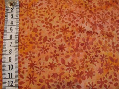 Orange - med brunlig mønster - bali
