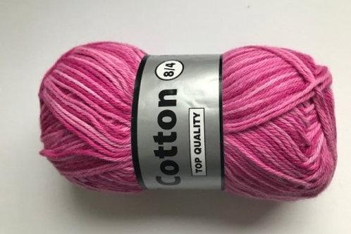 Cotton no 8 -Pink multicollor