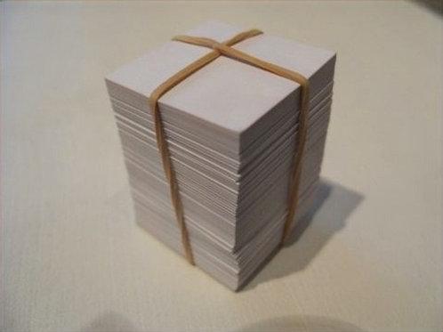 Udstanset karton firkanter 5 x 5 cm - 200 stk
