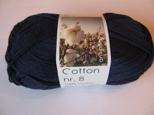Cotton no 8 - Mørk blå