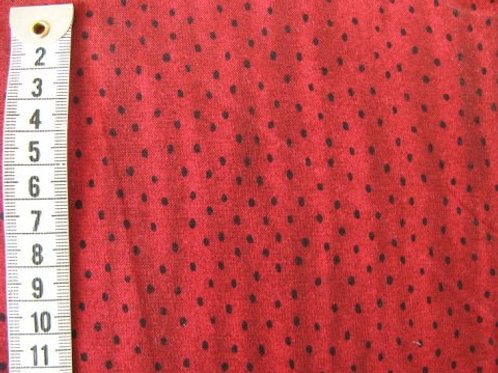 Mørk rød bund m. sorte pletter