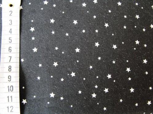 Sort bund m. små sølv stjerner