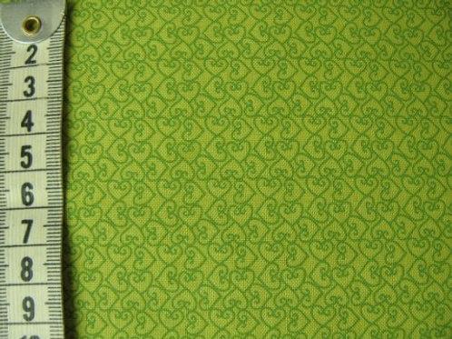 Gulgrøn bund med lidt mørkere mønster