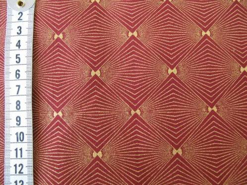 Rød bund med guld mønster