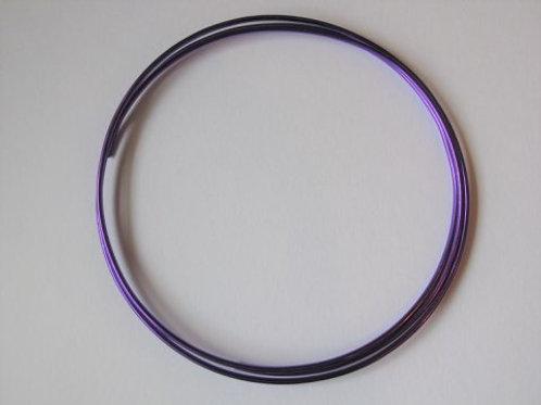 Dekorationstråd mørk lilla, 2 mm tyk - 1 m