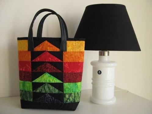 Taske med læderhanke
