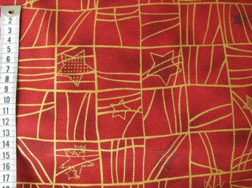 Rød bund m. guld mønster