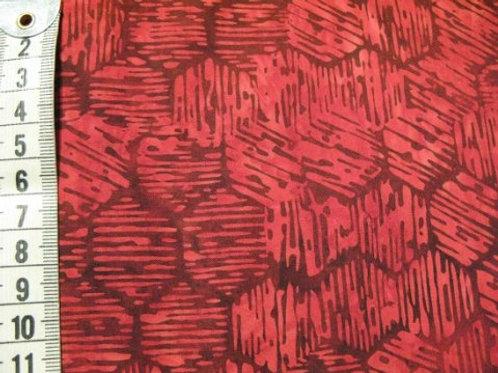 Mørk rød bund m. sort mønster - bali