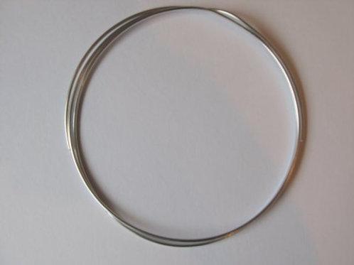 Dekorationstråd sølv, 2 mm tyk - 1 m