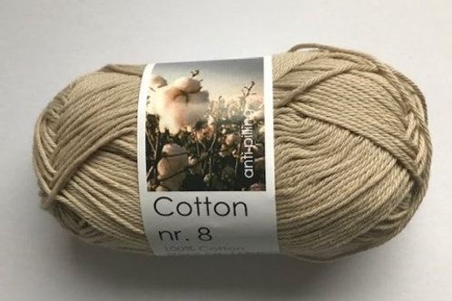 Cotton no 8 - lys jordfarvet