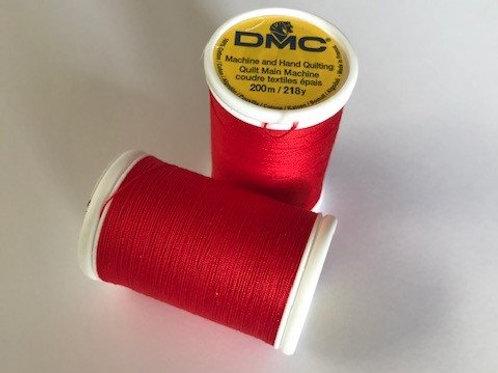 Postkasse rød quiltetråd fra DMC - 200 m