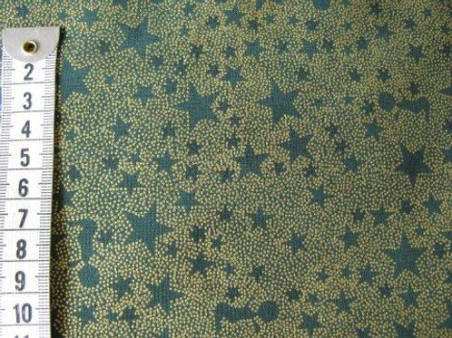 Grøn bund m. guld mønster