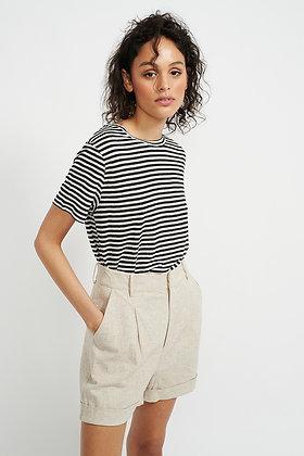 AVALON TEE (black and white stripe)