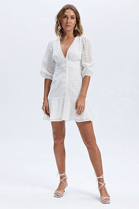 SIRENS BRODERIE MINI DRESS