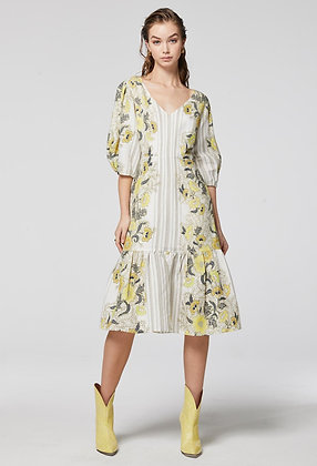 DAHLIA PLEAT SLEEVE MIDI