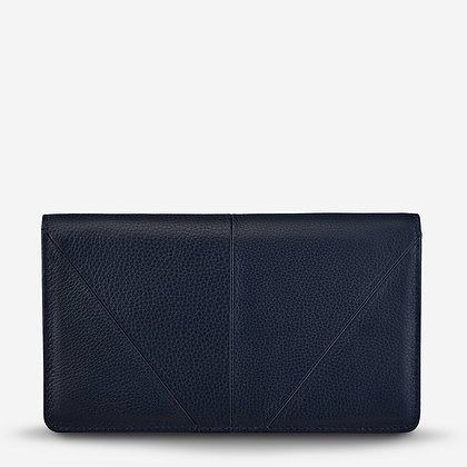 Status Anxiety Triple Threat Wallet (Navy Blue)